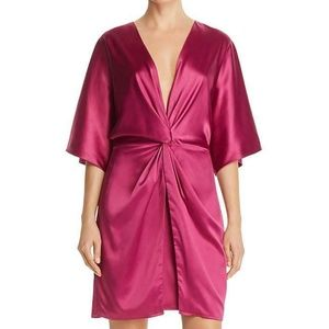 Laundry by Shelli Segal Womens Pink Satin Knot-Fro